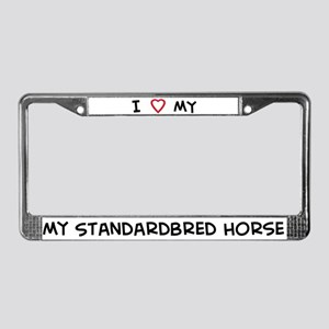 I Love Standardbred Horse  License Plate Frame
