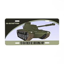 M-48 Patton Tank License Plate