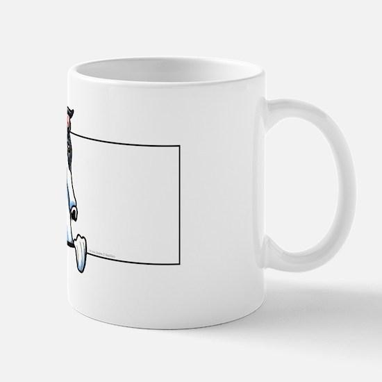 White Black Greyhound Mug