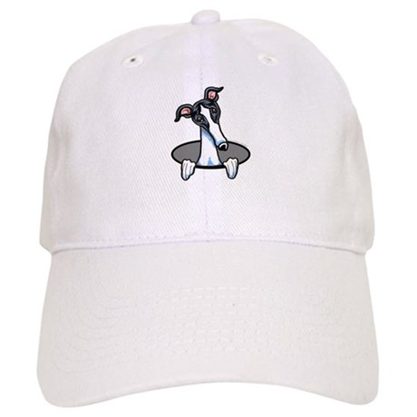 White Black Greyhound Cap