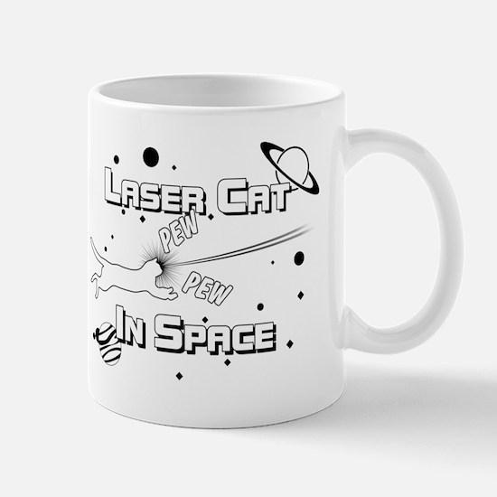 Laser Cat In Space Mug