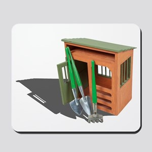 Garden Shed and Tools Mousepad