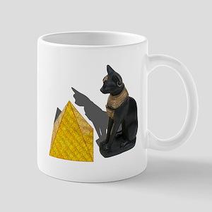 Egyptian Cat Sun Pyramid Mug