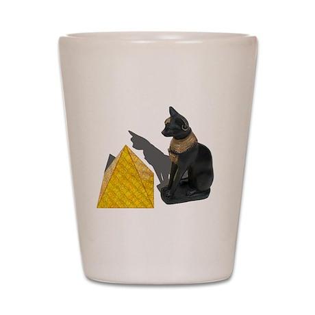 Egyptian Cat Sun Pyramid Shot Glass