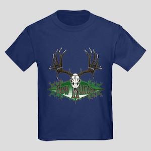 Bow hunter,deer skull Kids Dark T-Shirt