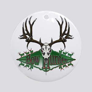 Bow hunter,deer skull Ornament (Round)