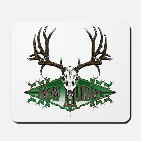 Bow hunter,deer skull Mousepad