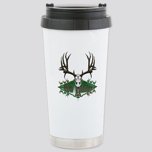 Bow hunter,deer skull Stainless Steel Travel Mug
