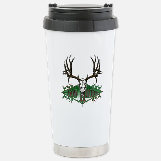 Bow hunter,deer skull Stainless Steel Travel Mug