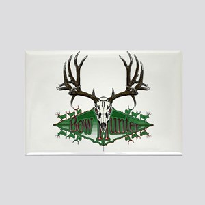 Bow hunter,deer skull Rectangle Magnet