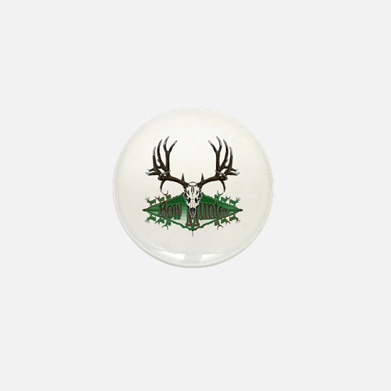 Bow hunter,deer skull Mini Button