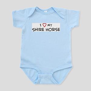 I Love Shire Horse Infant Creeper