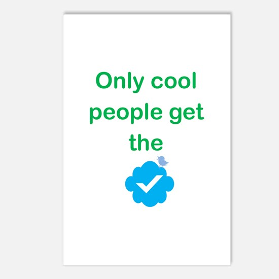 Only Cool Ppl Get the Checkmark Postcards (Package