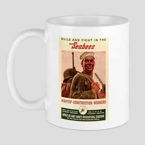 World War 2 Seabees Mug