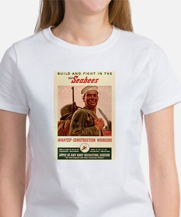 World War 2 Seabees Women's T-Shirt