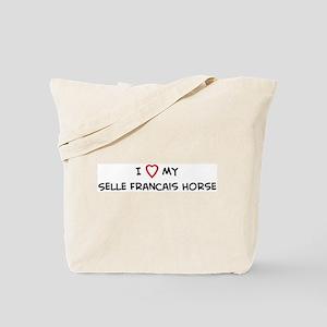 I Love Selle Francais Horse Tote Bag