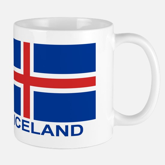 Icelandic Flag (labeled) Mug