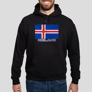 Icelandic Flag (labeled) Hoodie (dark)