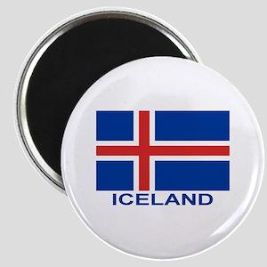 Icelandic Flag (labeled) Magnet