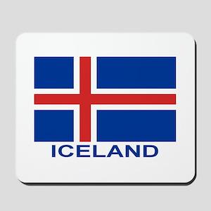 Icelandic Flag (labeled) Mousepad