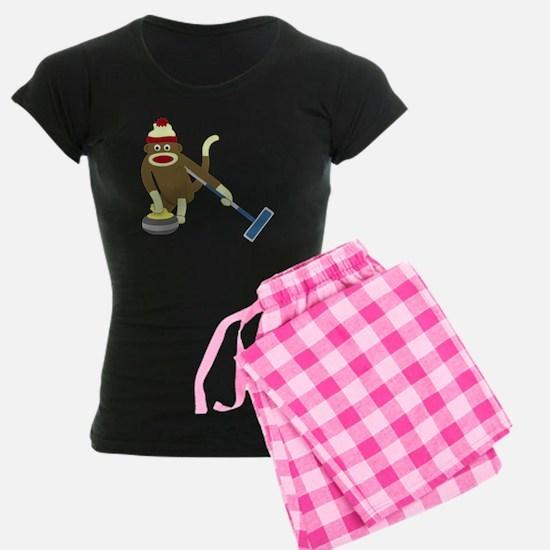 Sock Monkey Olympics Curling Pajamas