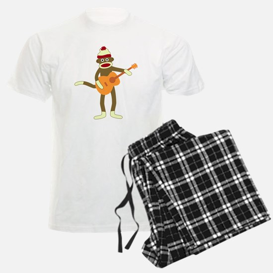 Sock Monkey Acoustic Guitar pajamas