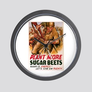 WW2 Sugar Beets Wall Clock