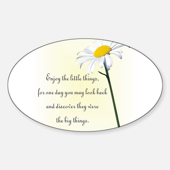 Cute Flowers Sticker (Oval)