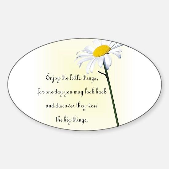 Cute Daisies Sticker (Oval)