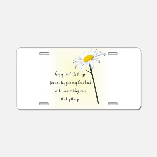 Unique Daisy Aluminum License Plate