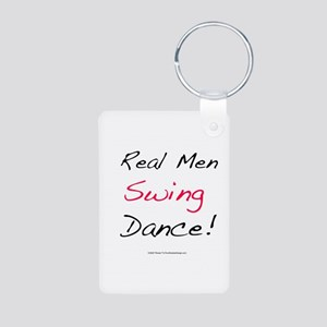 Real Men Swing Dance Aluminum Photo Keychain