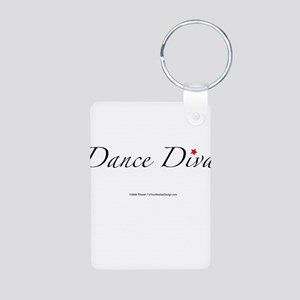 Dance Diva Aluminum Photo Keychain