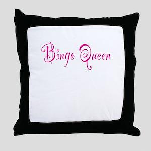 Bingo Queen Throw Pillow