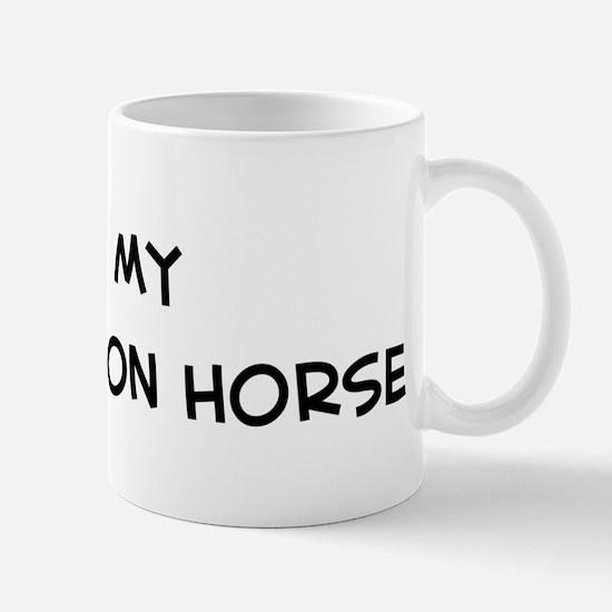 I Love Russian Don Horse  Mug
