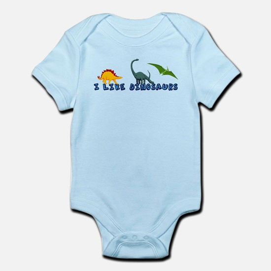 I Like Dinosaurs Infant Bodysuit