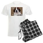 St Bernard Puppy Cookie Men's Light Pajamas