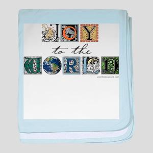 Joy to the World baby blanket