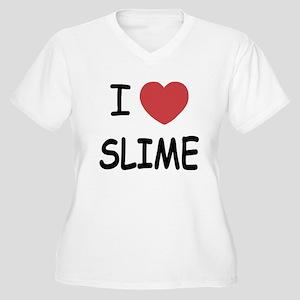 I heart slime Women's Plus Size V-Neck T-Shirt