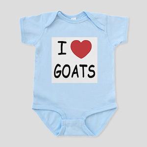 I heart goats Infant Bodysuit