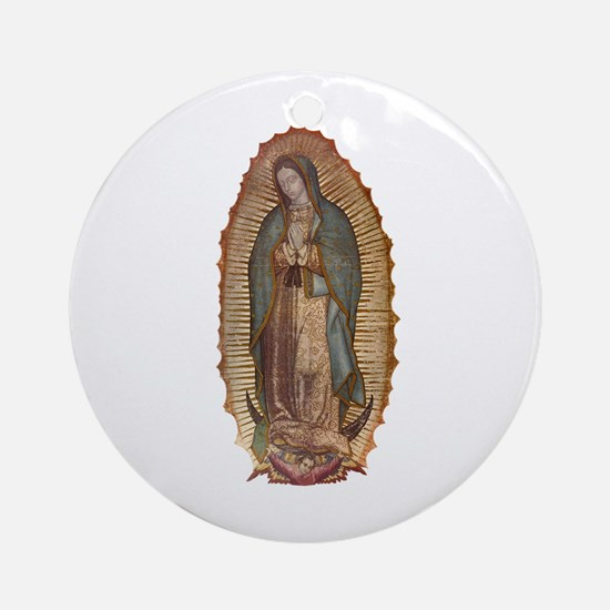 Our Lady of Guadalupe Ornament (Round)