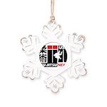 USA Jiu-Jitsu News Rustic Snowflake Ornament