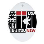 USA Jiu-Jitsu News Oval Ornament