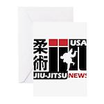 USA Jiu-Jitsu News Greeting Cards