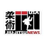 USA Jiu-Jitsu News Rectangle Car Magnet