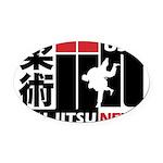 USA Jiu-Jitsu News Oval Car Magnet