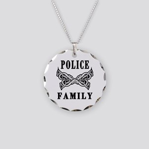 Police Family Necklace Circle Charm