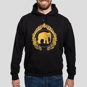 Thai Elephant Hoodie (dark)