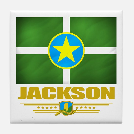 Jackson Pride Tile Coaster