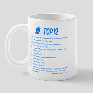 Chart Farts Top 12 Mug