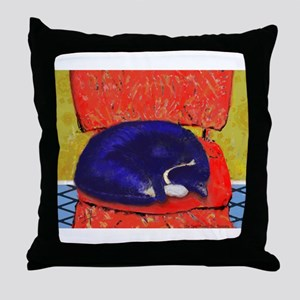Sleeping Kibbers Throw Pillow